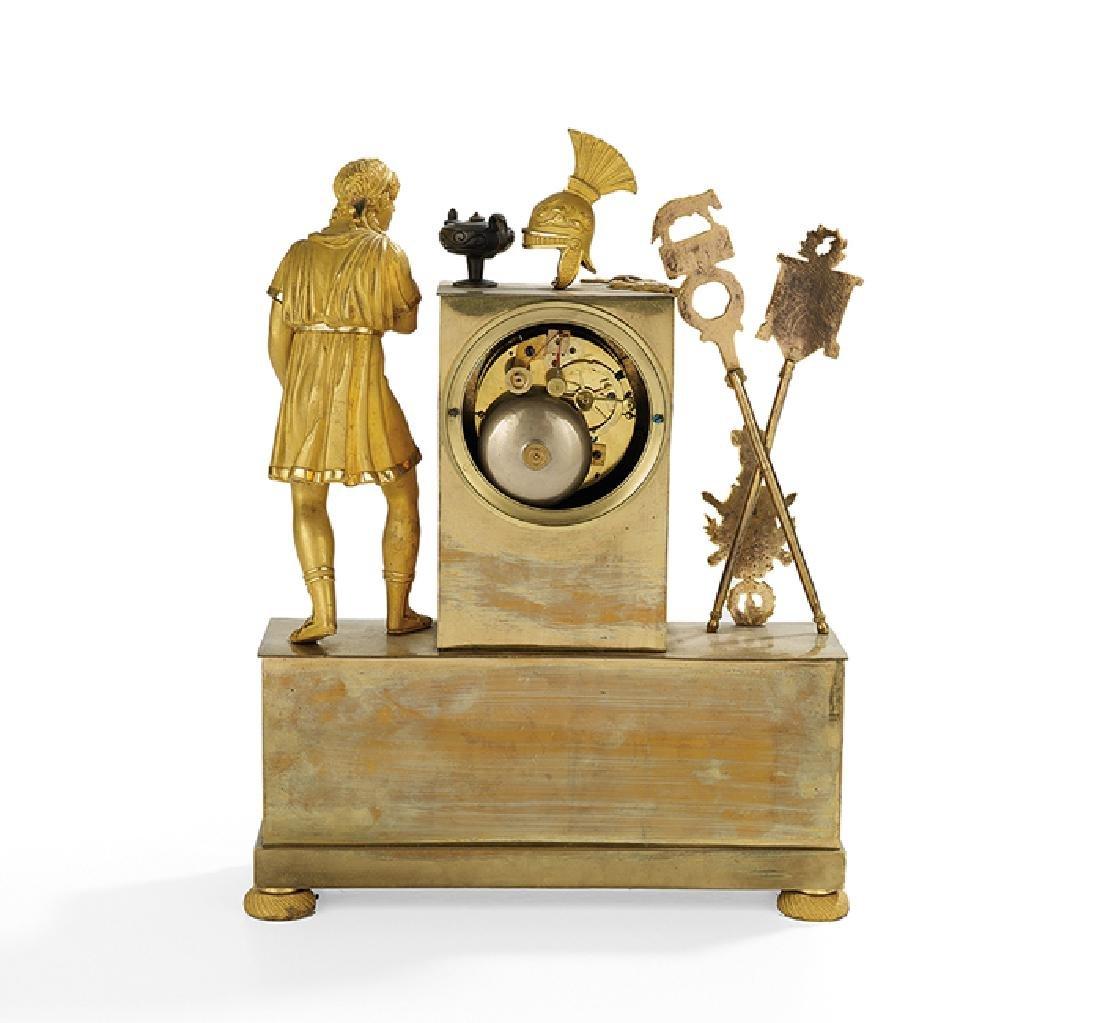 French Empire Gilt-Bronze Mantel Clock - 4
