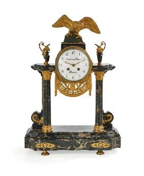 French Empire-Style Mantel Clock