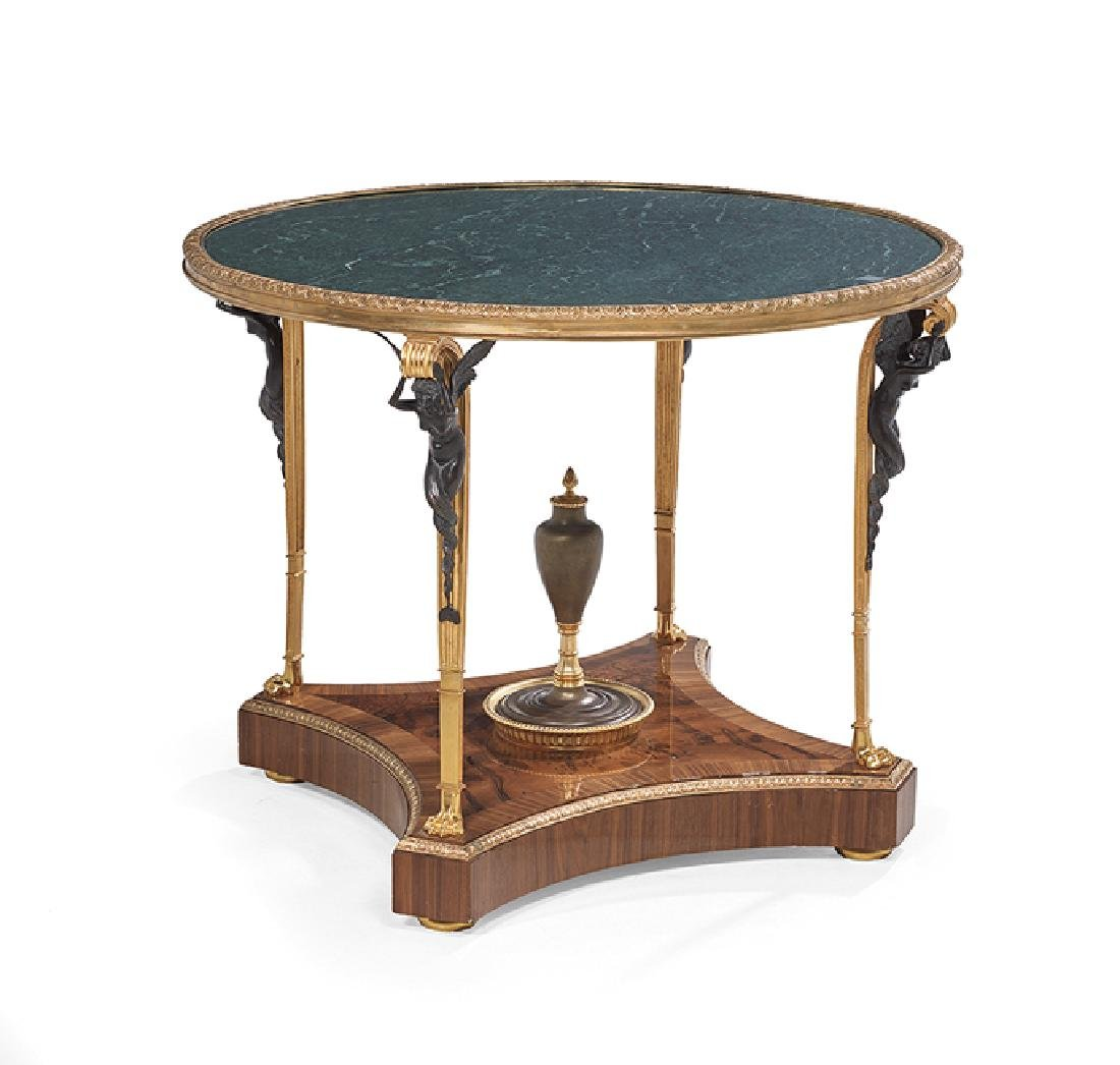 Empire-Style Marble-Top Center Table