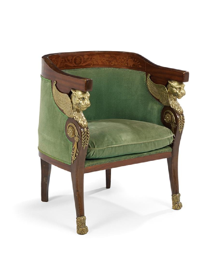 Five-Piece Empire-Style Mahogany Parlor Suite - 2