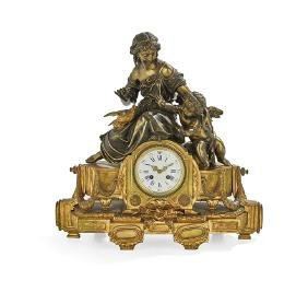 Napoleon III Gilt-Bronze Mantel Clock