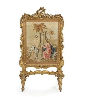 Louis-Philippe Needlepoint Firescreen