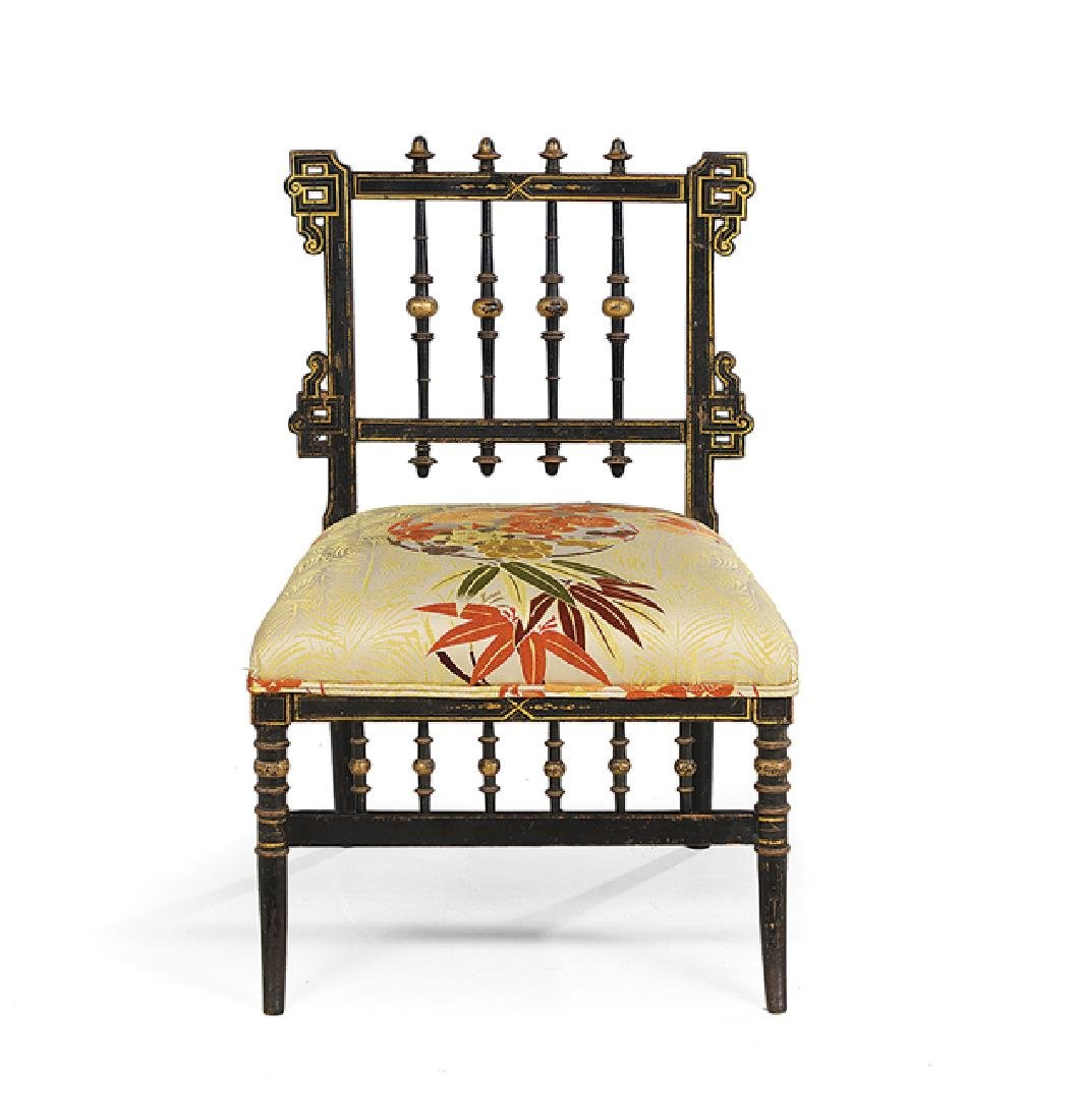 French Aesthetic Movement Japonesque Sidechair