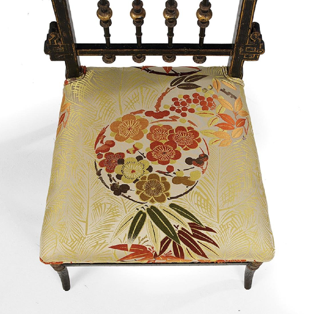 French Aesthetic Movement Japonesque Sidechair - 3
