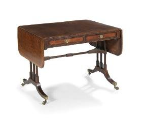 Regency Mahogany Drop-Leaf Sofa Table