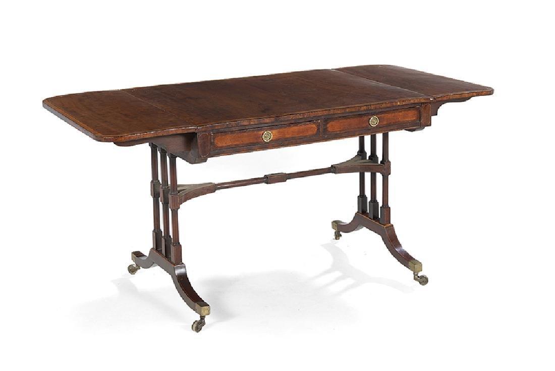 Regency Mahogany Drop-Leaf Sofa Table - 2