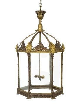 French Bronze Lantern in the Neoclassical Taste