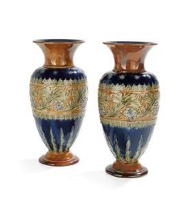 Pair of Royal Doulton Stoneware Vases