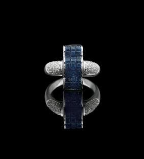 18 Kt. Gold, Sapphire and Diamond Ring