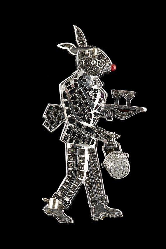 "Raymond C. Yard Platinum ""Rabbit Waiter"" Brooch - 2"
