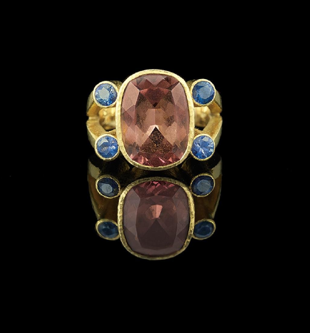 Elizabeth Locke 18 Kt. & Pink Tourmaline Ring