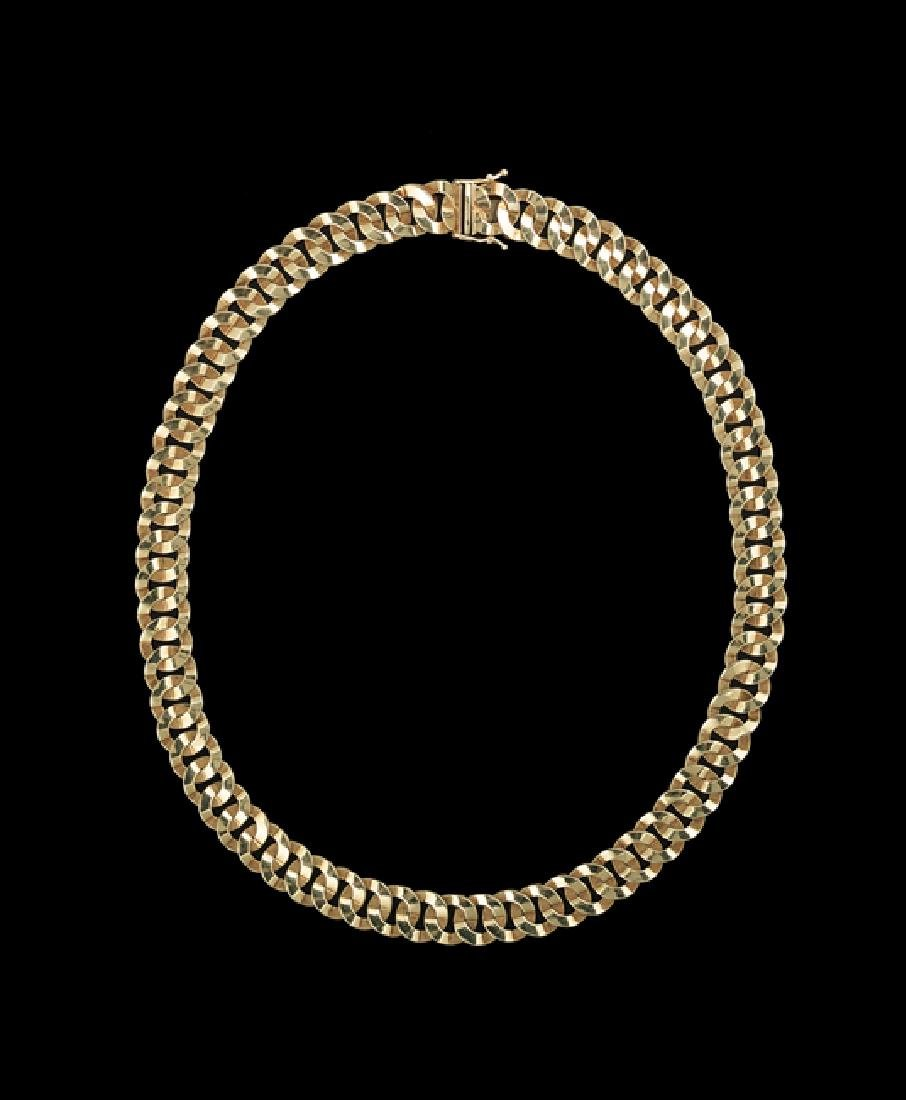 Italian 14 Kt. Gold Convertible Necklace/Bracelet