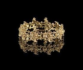 English Nine-Karat Yellow Gold Bracelet
