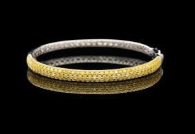 18 Kt. Gold and Yellow Diamond Bracelet