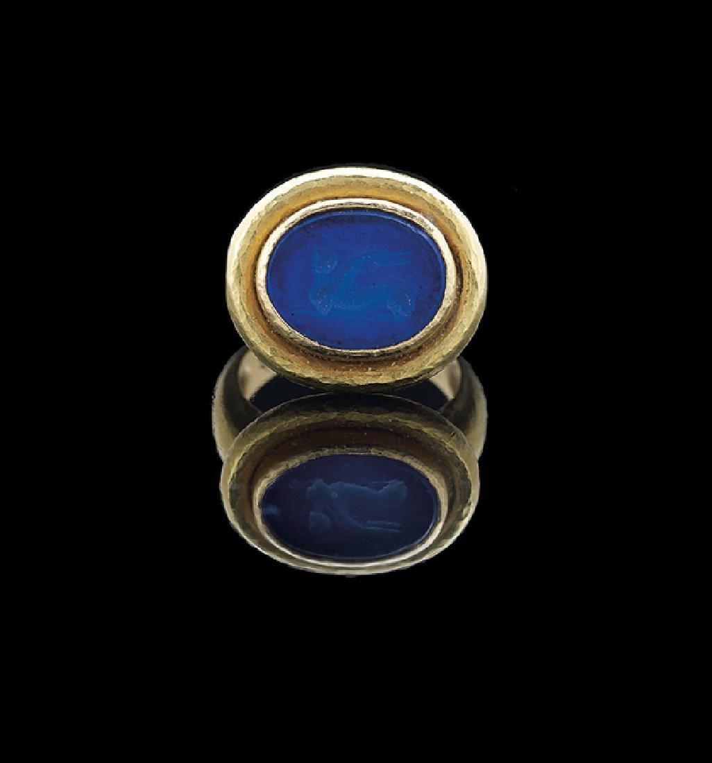 Elizabeth Locke 18 Kt. Gold Intaglio Ring