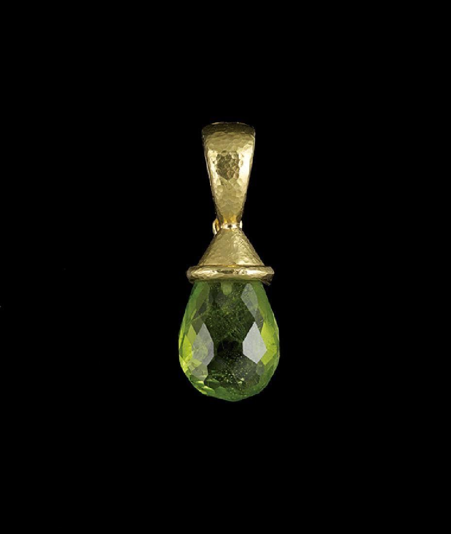Elizabeth Locke 18 Kt. Gold & Peridot Pendant