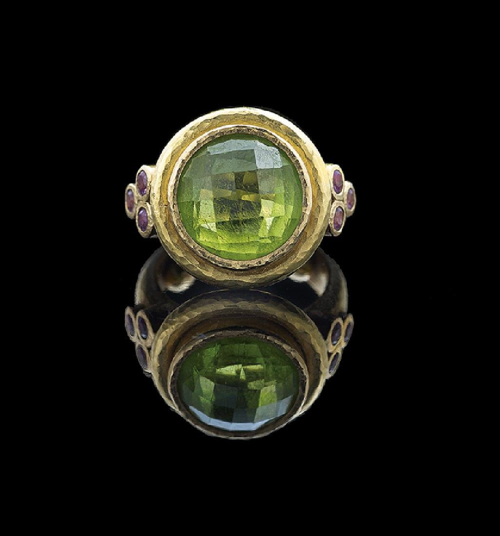 Elizabeth Locke 18 Kt. Gold & Peridot Ring