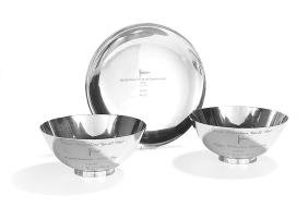 Three Tiffany & Co. Sterling Yachting Trophies