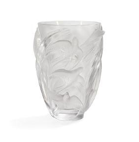 "Lalique Crystal ""Martinets"" Vase"
