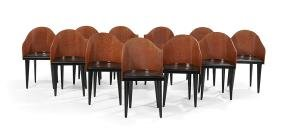 """Suite of Eleven Modern """"Toscana"""" Chairs"""