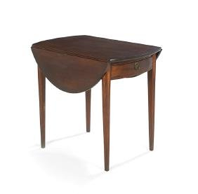 American Inlaid Cherry Pembroke Table
