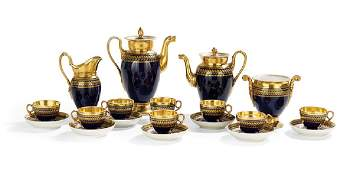 19-Pc. Paris Porcelain Tea and Coffee Service