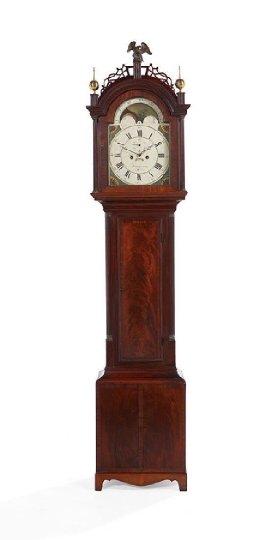 Simon Willard Federal Mahogany Tall Case Clock
