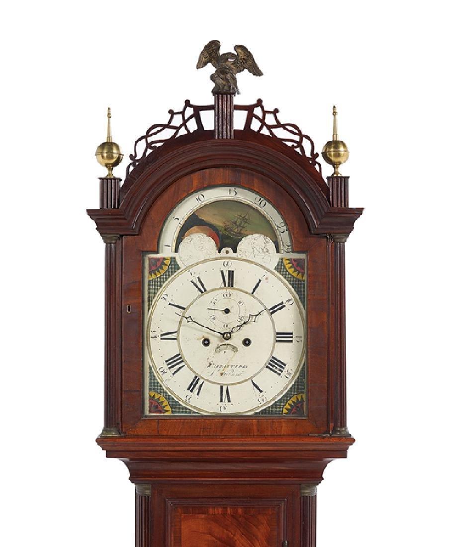 Simon Willard Federal Mahogany Tall Case Clock - 2