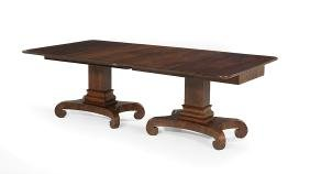 American Mahogany Double-Pedestal Dining Table