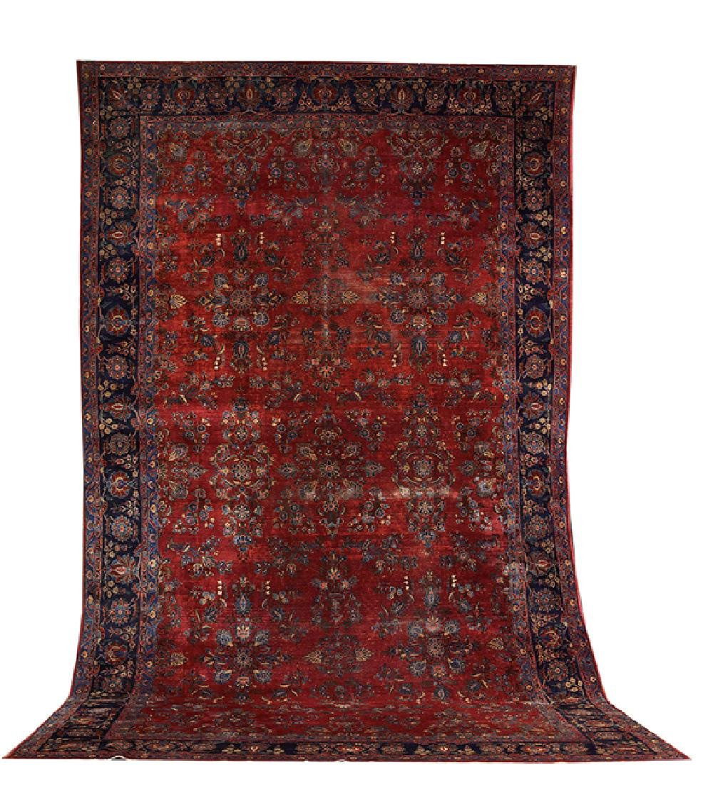 Semi-Antique Sarouk Carpet