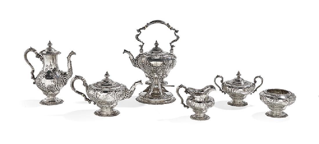 Six-Piece American Silver Coffee and Tea Set