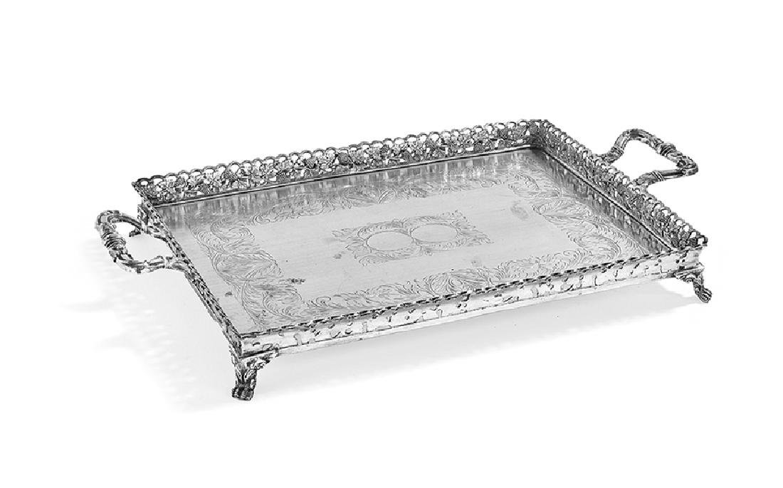 South American .833 Silver Tray