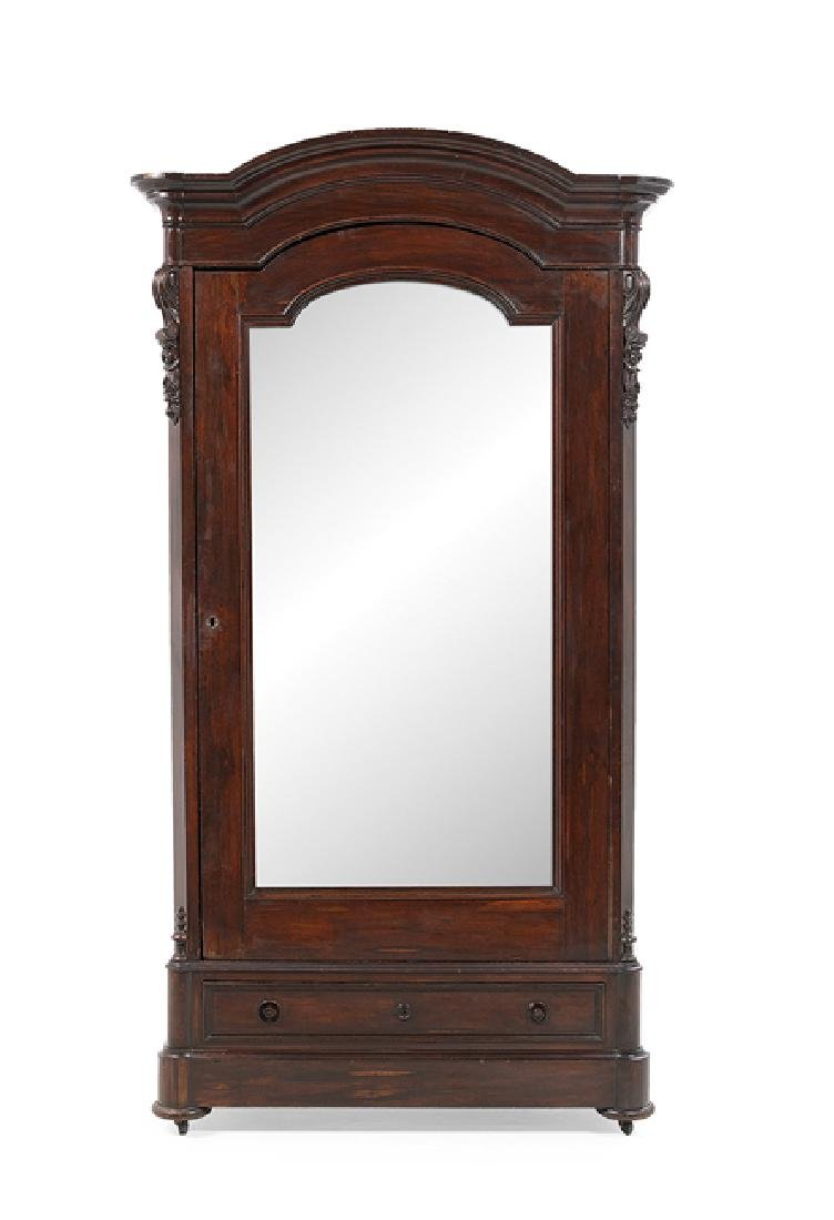 American Rococo Revival Rosewood Armoire