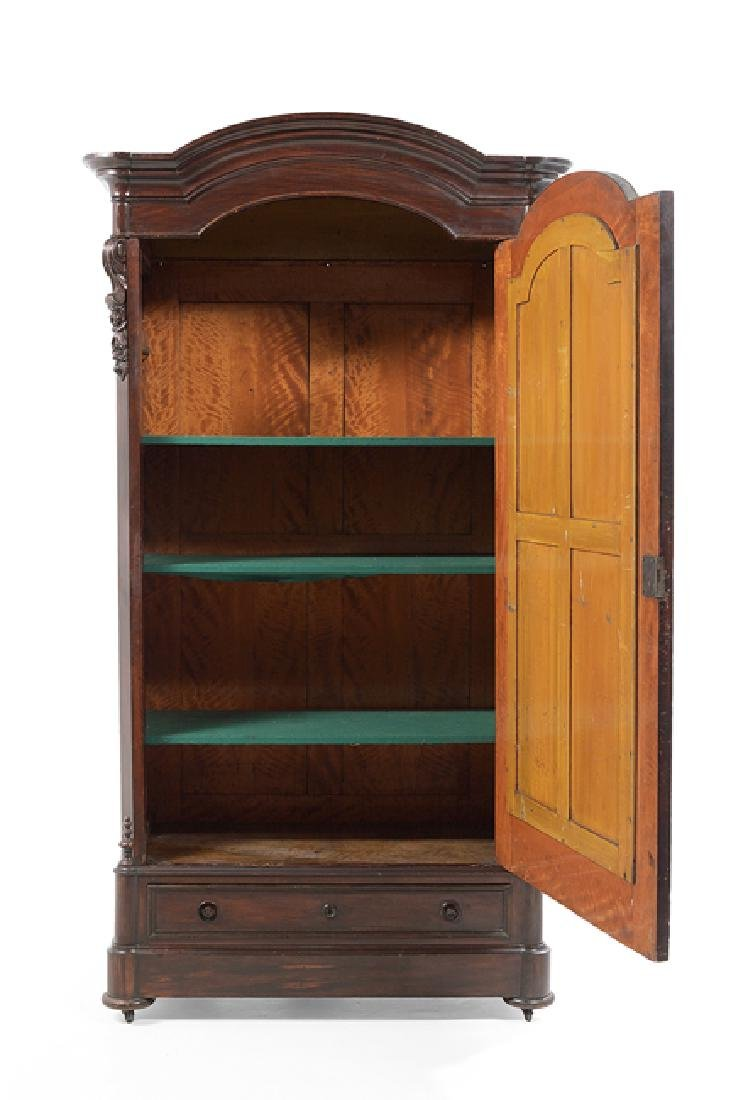 American Rococo Revival Rosewood Armoire - 2