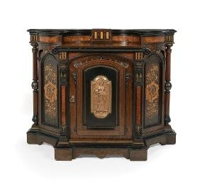 American Neo-Grec Inlaid Rosewood Cabinet