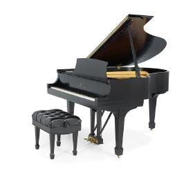 Steinway & Sons Ebonized Baby Grand Piano
