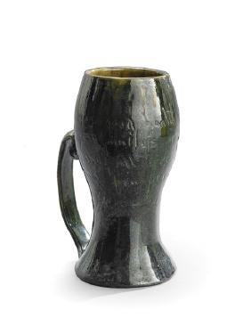 """George Ohr """"Joe Jefferson"""" Vase-Shaped Mug"""