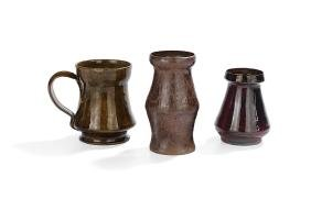 Three-Piece Collection of George Ohr Art Pottery