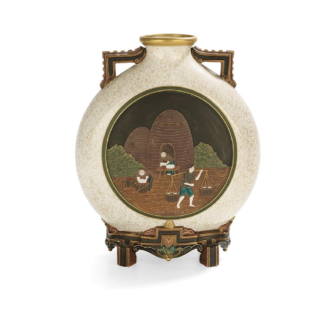 Exceptional Worcester Aesthetic Moon Flask - 2