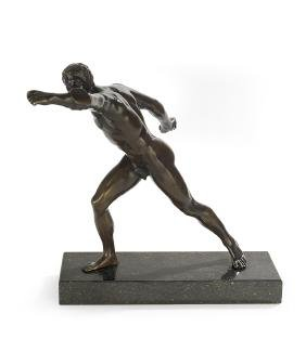 "Italian Bronze of ""The Borghese Gladiator"""