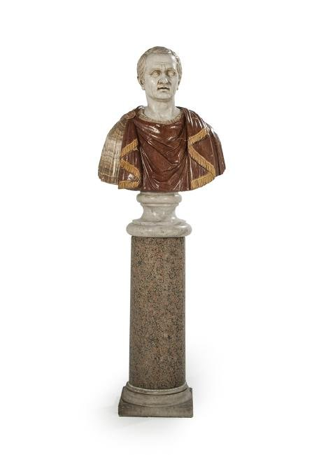 Italian Carved Bust of Cicero