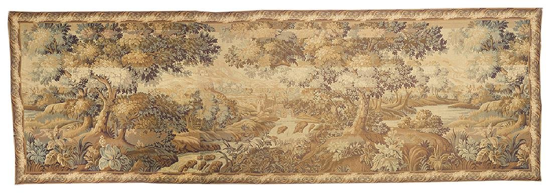 Flemish Tapestry of a Bucolic River Landscape