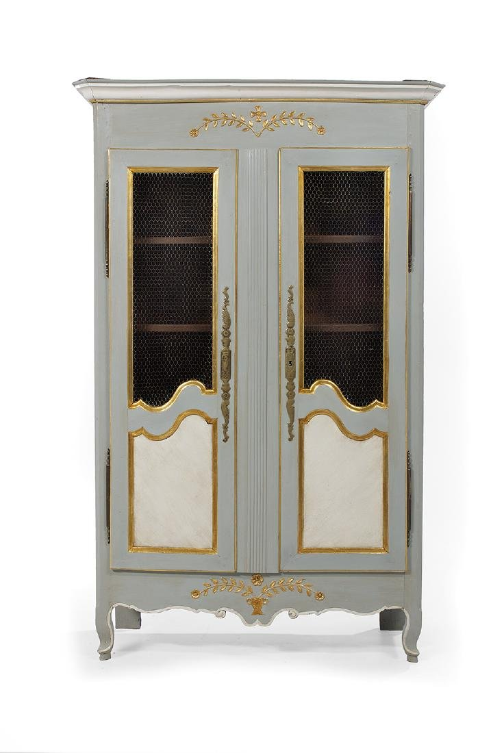 Provincial Louis XV Polychrome Armoire