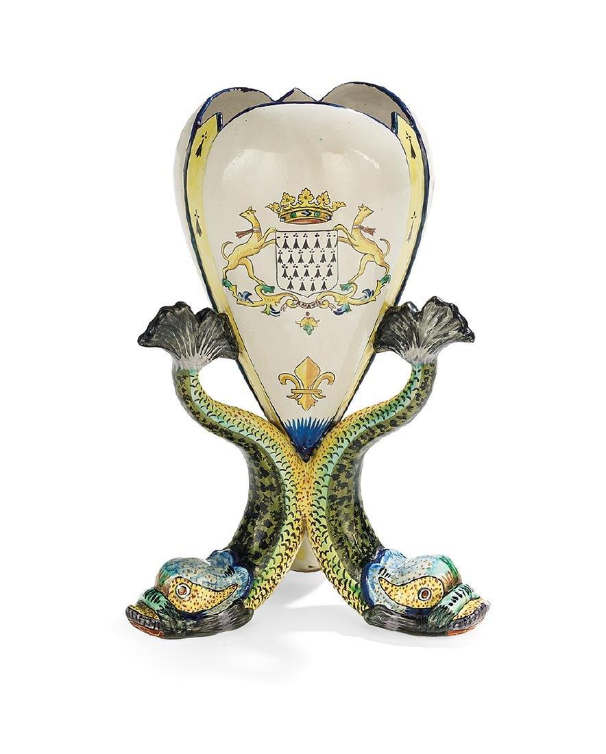 Quimper Grande Maison Faience Vase