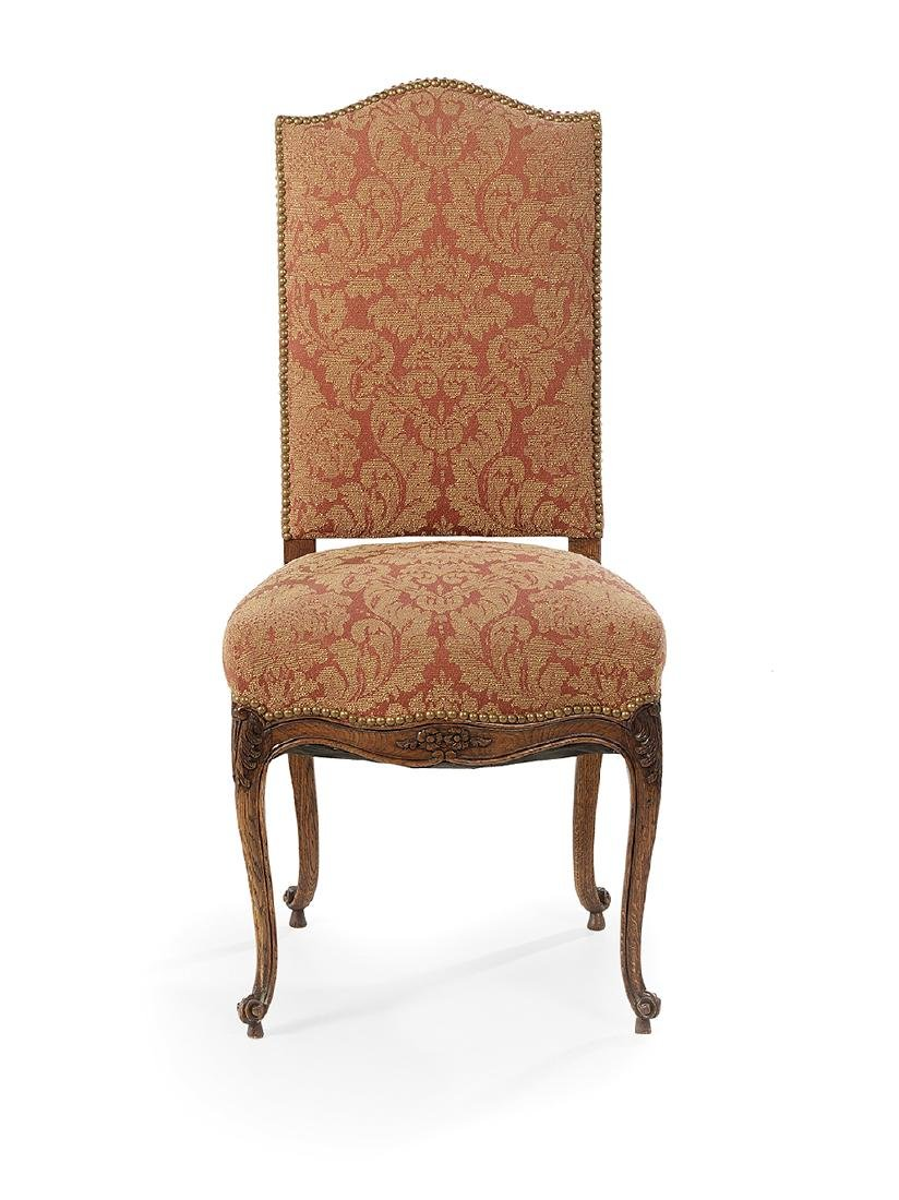 Six Provincial Louis XV-Style Oak Dining Chairs - 2