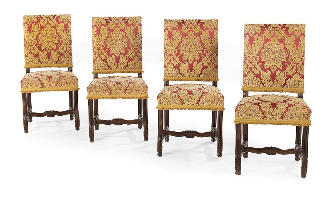 Four Provincial Louis XIV-Style Dining Chairs