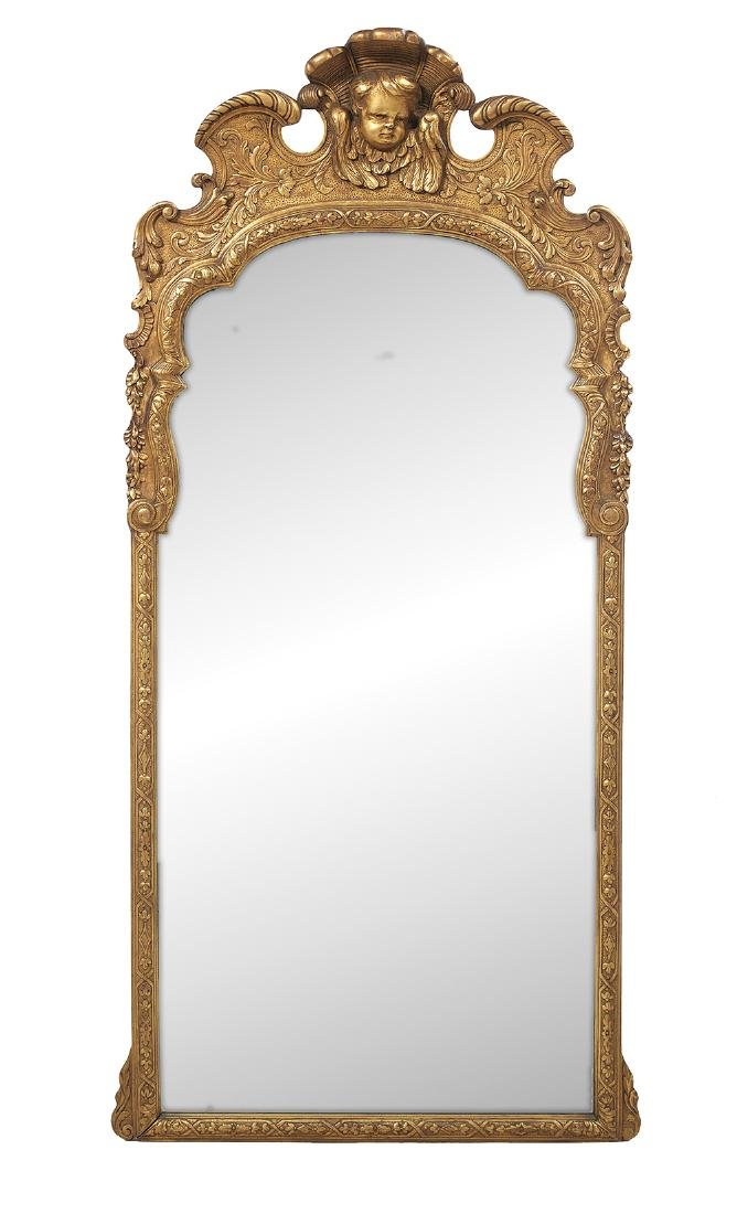 Italian Baroque-Style Giltwood Mirror
