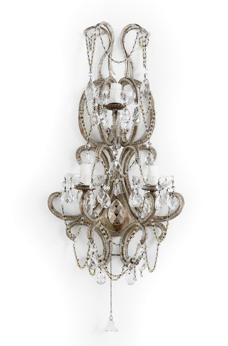 Pair of Continental Three-Light Sconces - 2