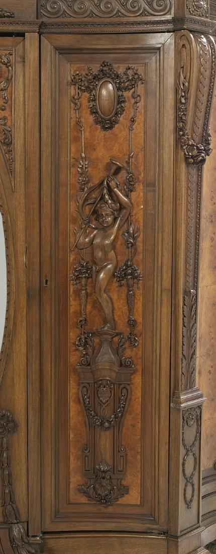 Impressive Continental Carved Walnut Armoire - 2