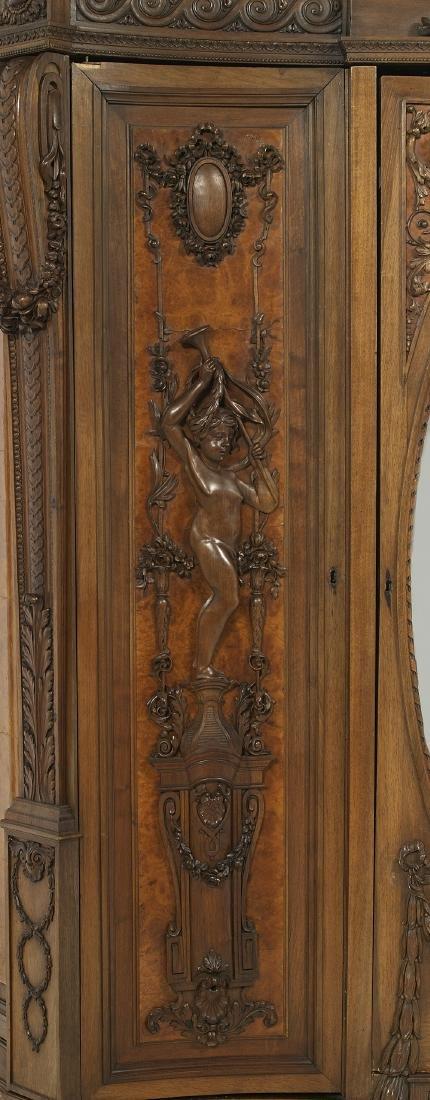 Impressive Continental Carved Walnut Armoire - 3